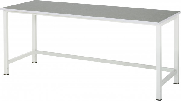 Werktisch B 2000 x T 800 x H 825 mm mit Linoleum-/Universal-Platte