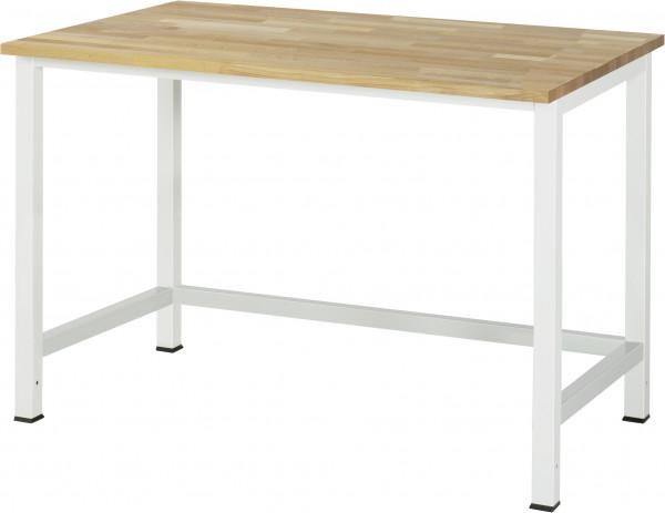 Werktisch B 1250 x T 800 x H 825 mm mit Buche-Massiv-Platte