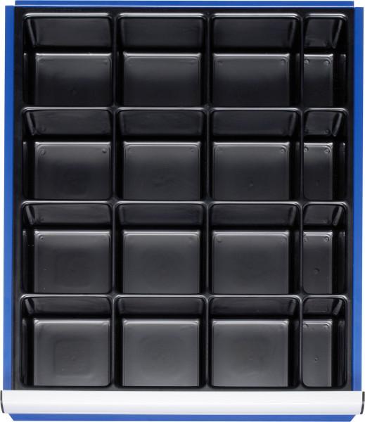 Kleinteileeinsatz mit 16 Fächern für Schubladen-Innenmaß B 490 x T 560 mm
