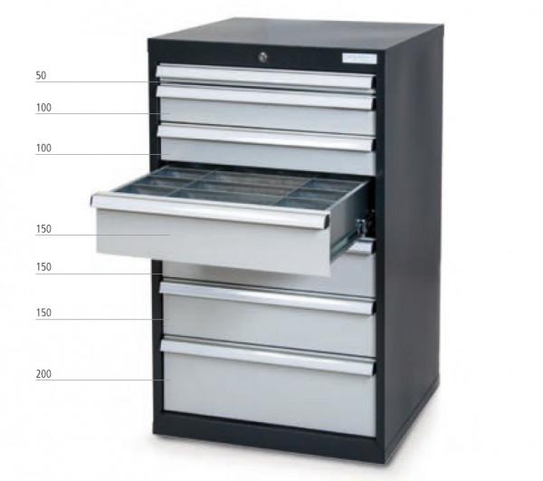 Schubladenschrank mit 7 Schubladen inkl. Einteilungs-Set