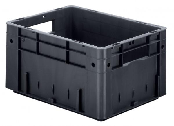 Schwerlast-Stapelkasten leitfähig VTKL 400/210-0 aus PP