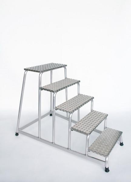 Aluminium-Arbeitspodest starr mit 5 Stufen