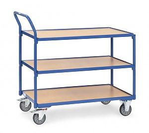 Leichter Tischwagen 3 Böden 850 x 500 mm Tragkraft 300 kg