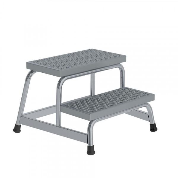 Arbeitspodest aus Aluminium starr R13 mit 2 Stufen