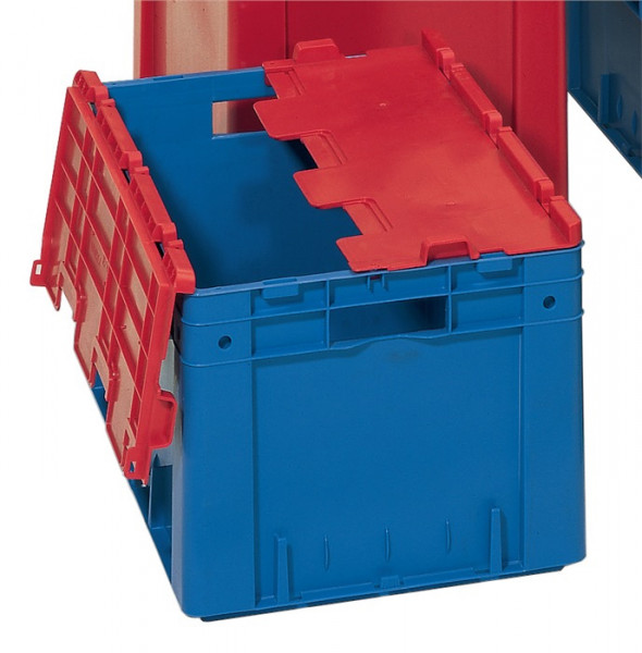 Klappdeckel grau L 600 x B 400 mm für Transportstapelbehälter