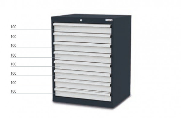 Schubladenschrank mit 8 Schubladen