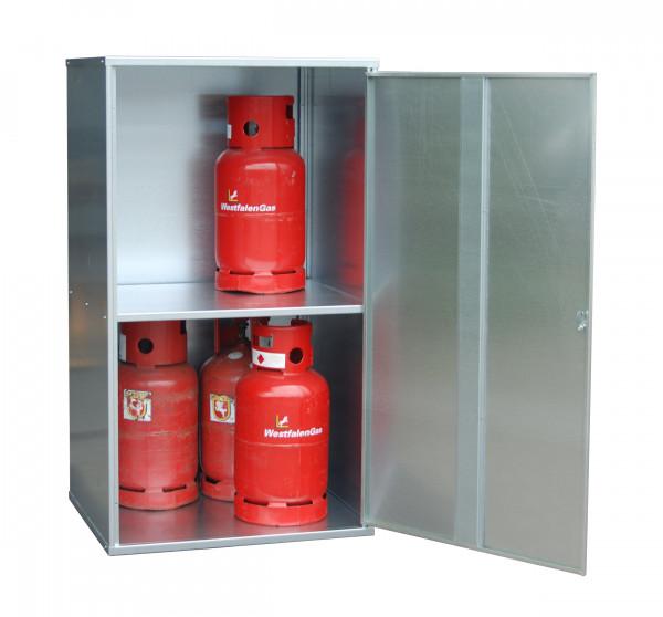 Gasflaschen-Depot Typ GFD-G 1 für max. 10 Stück 11kg-Gasflaschen