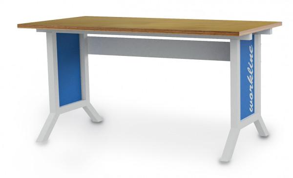 workline- Arbeitstisch B 1500 x T 750 x H 735 - 1100 mm mit Kurbelverstellung