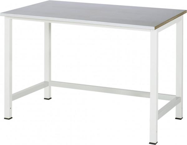 Werktisch B 1250 x T 800 x H 825 mm mit Stahlblechbelag-Platte