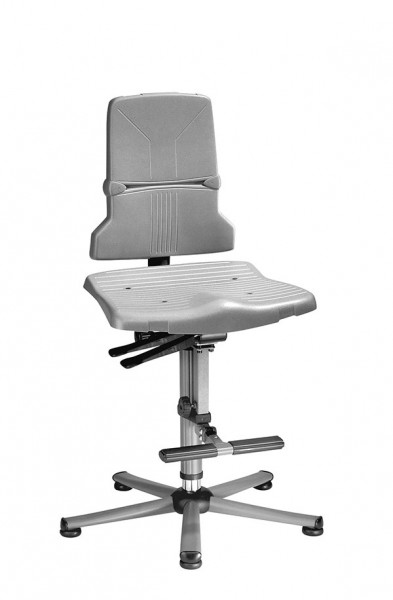 Arbeitsdrehstuhl Sintec 9821-1000 mit Synchronautomatik und Bodengleiter + Aufstiegshilfe