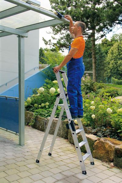 Aluminium-Stehleiter einseitig begehbar, 9 Stufen