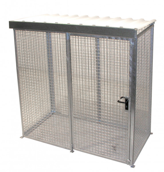 Gasflaschen-Container mit Dach Typ GFC-M1/D max. für 32 Gasflaschen