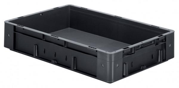 Schwerlast-Stapelkasten leitfähig VTKL 600/120-0 aus PP