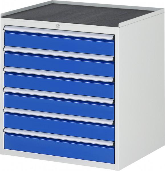 Schubladenschrank mit 6 Schubladen und Metall-Top B 770 x T 650 x H 825 mm