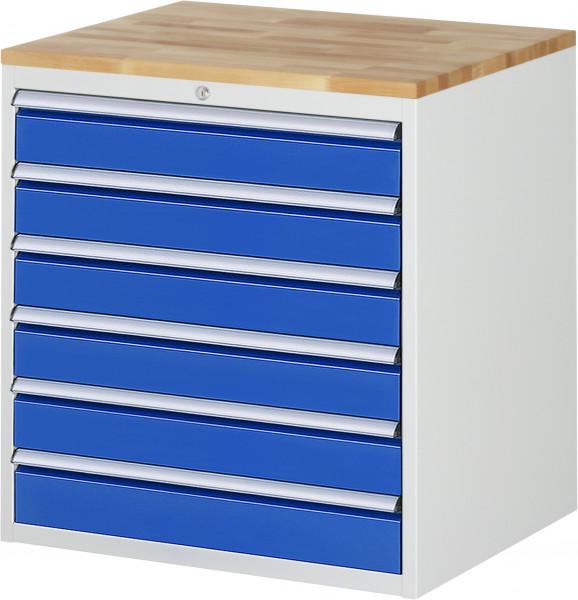 Schubladenschrank mit 6 Schubladen und Buche-Top B 770 x T 650 x H 825 mm