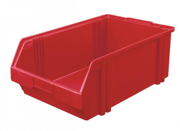 Sichtlagerkasten rot aus Polystyrol L 500/450 x B 300 x H 180 mm