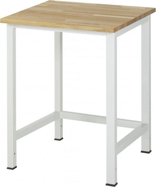 Werktisch B 750 x T 800 x H 825 mm mit Buche-Massiv-Platte