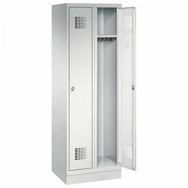 Garderobenschrank 2 Abteile mit Sockel H 1800 x B 600 x T 500 mm