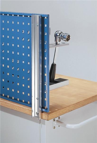 Werkbankhalterung für Lochplatten / Schlitzplatten