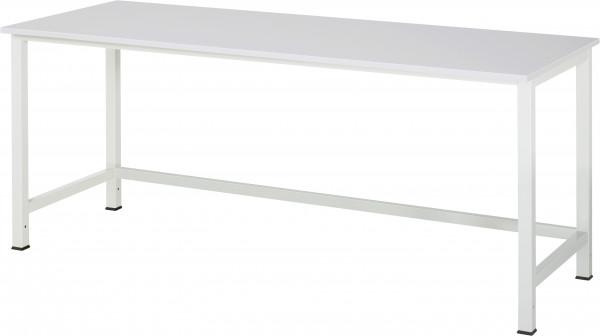 Werktisch B 2000 x T 800 x H 825 mm mit Melamin-Platte