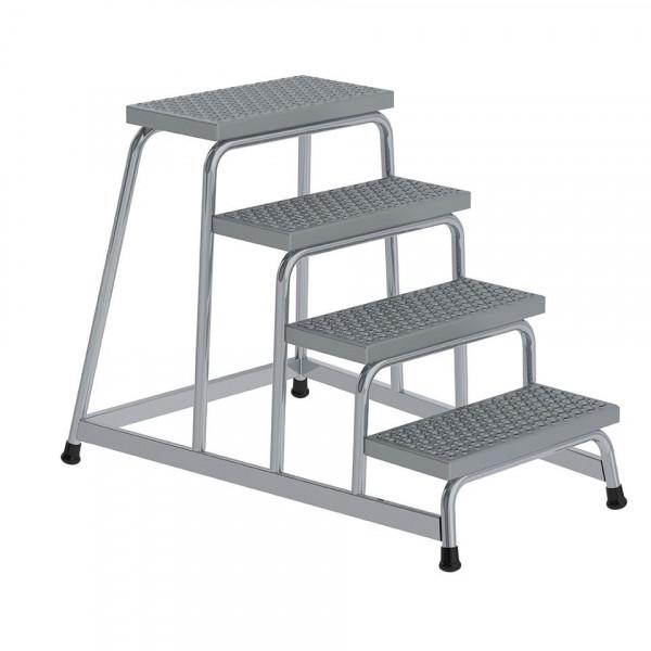Aluminium-Arbeitspodest R13 Rutschhemmung, starr mit 4 Stufen