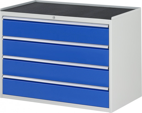 Schubladenschrank mit 4 Schubladen und Metall-Top B 1145 x T 650 x H 825 mm