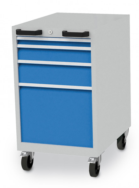 CNC- Schubladenschrank mobil mit 4 Schubladen