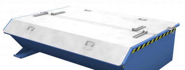 Deckel verzinkt für Mini- Kippbehälter 2-seitig zu öffnen
