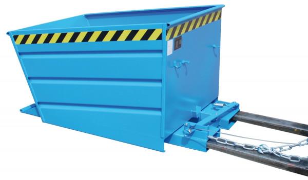 Kippbehälter Typ VD 500 lackiert lichtblau RAL 5012  Inhalt 0,50 m³