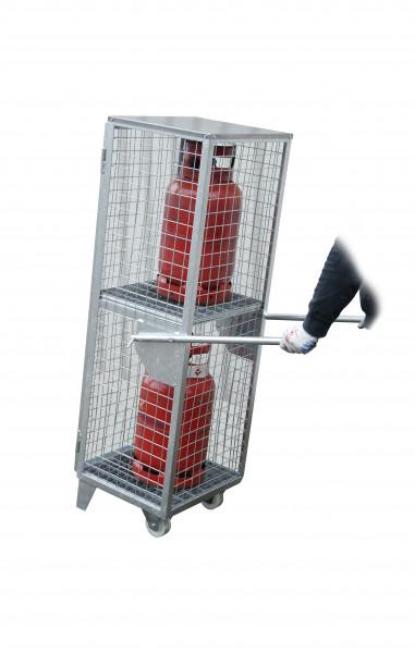 Gasflaschen-Depot mobil Typ GFD-R 2 für 2 Gasflaschen