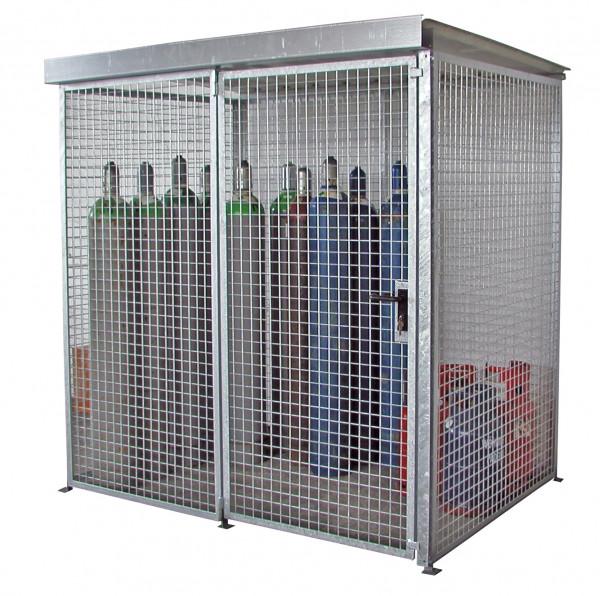 Gasflaschen-Container mit Dach Typ GFC-M2/D für max. 48 Gasflaschen