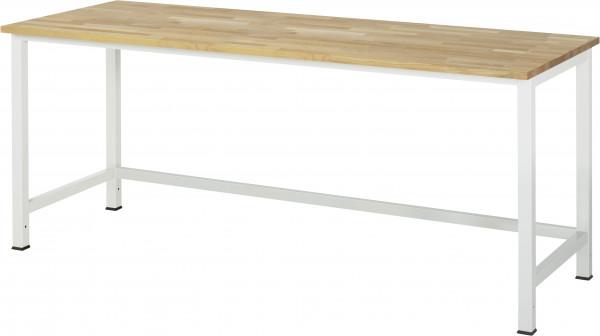 RAU Werktisch B 2000 x T 800 x H 825 mm mit Buche-Massiv-Platte