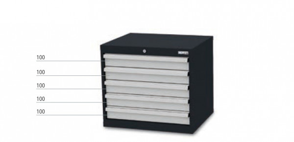 Schubladenschrank mit 5 Schubladen