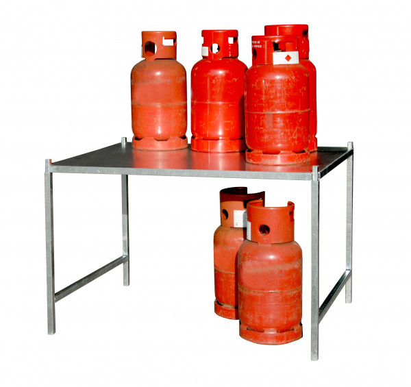 Gasflaschengestell Typ GFG verzinkt 2-fach stapelbar