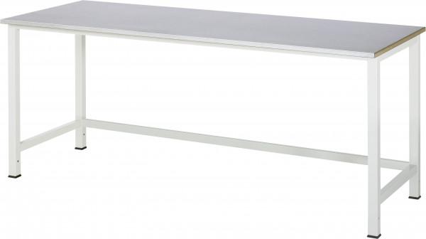 Werktisch B 2000 x T 800 x H 825 mm mit Stahlblechbelag-Platte