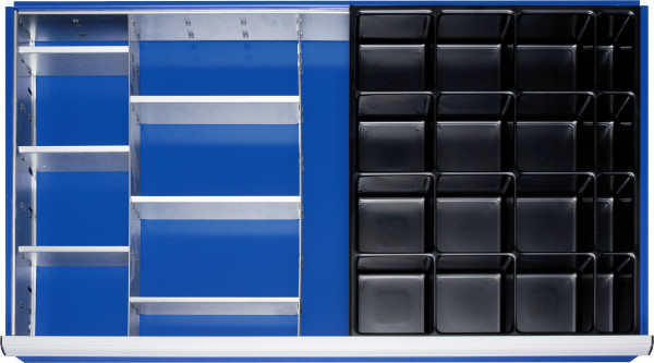 Einteilungsset für Schubladen- Innenmaß B 1055 x T 560 mm