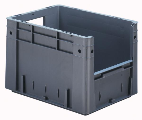 Sichtlagerkasten grau L 400 x B 300 x H 270 mm aus PP