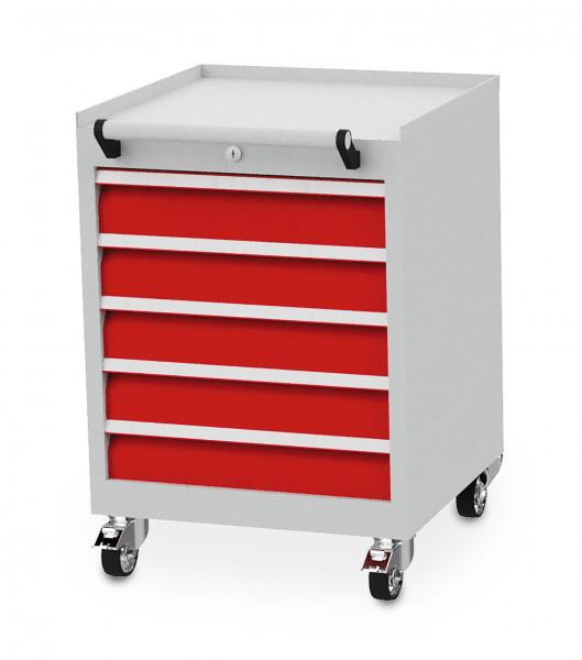 Mobiler Schubladenschrank mit 5 Schubladen