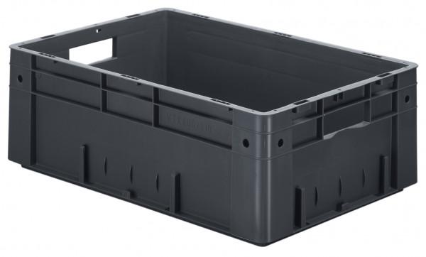 Schwerlast-Stapelkasten leitfähig VTKL 600/210-0 aus PP