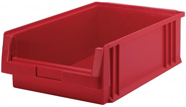 Sichtlagerkasten rot L 500/465 x B 315 x H 150 mm aus PP