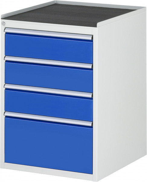Schubladenschrank mit 4 Schubladen und Metall-Top B 580 x T 650 x H 825 mm
