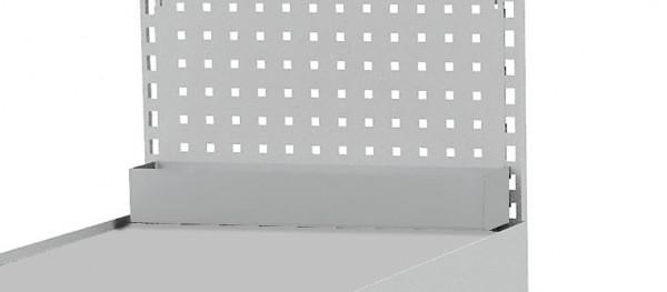 Ablageschale B 484 x T 74 x H 100 mm für Lochwände
