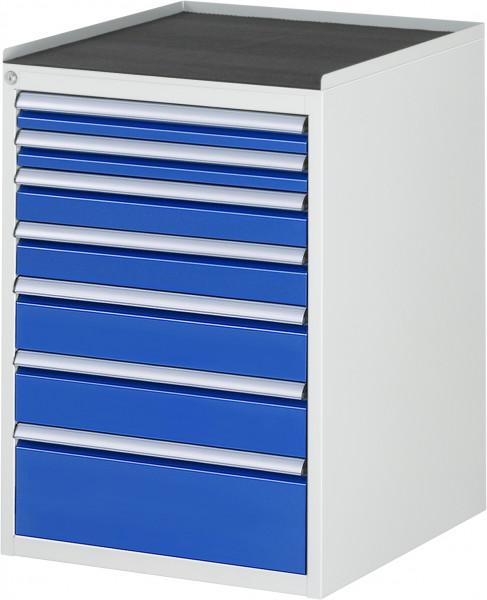 Schubladenschrank mit 7 Schubladen und Metall-Top B 580 x T 650 x H 825 mm