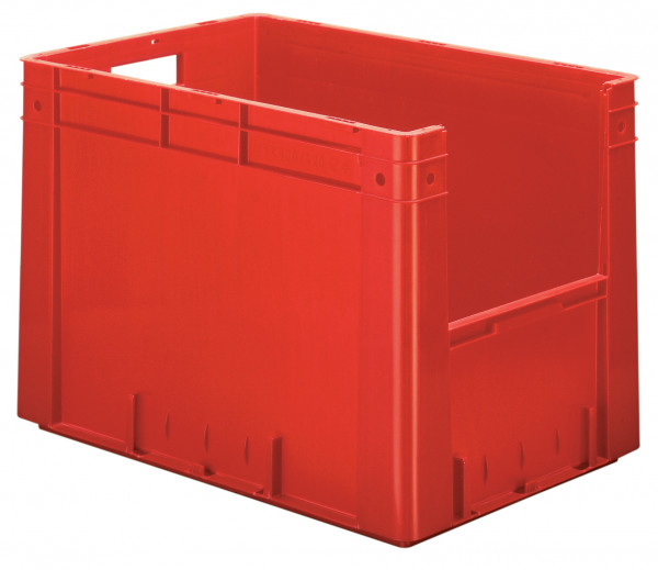Sichtlagerkasten rot L 600 x B 400 x H 420 mm aus PP
