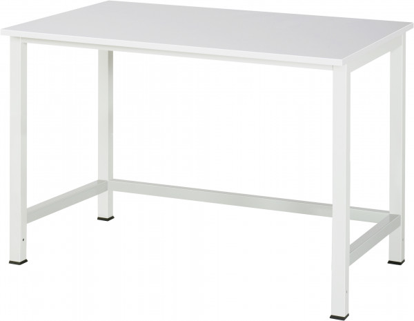 Werktisch B 1250 x T 800 x H 825 mm mit EGB-Melamin-Platte