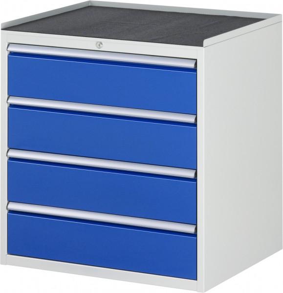Schubladenschrank mit 4 Schubladen XL und Metall-Top B 770 x T 650 x H 825 mm