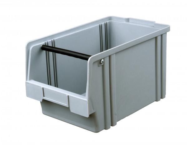 Sichtlagerkasten grau aus Polystyrol L 350/300 x B 200 x H 200 mm