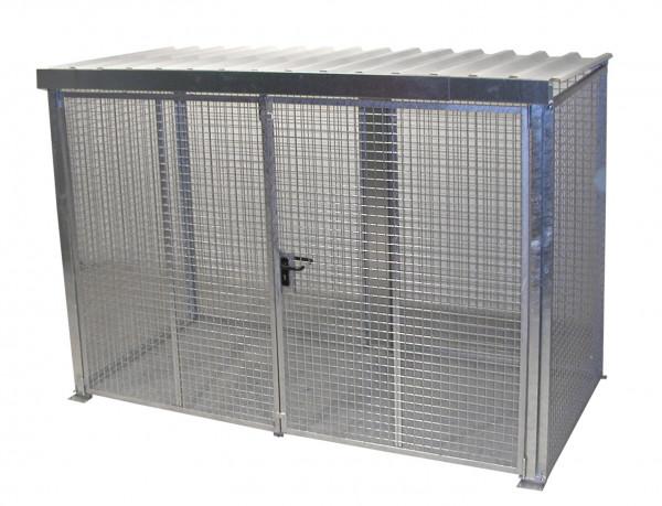 Gasflaschen-Container Typ GFC-M4/D-DF  für den Außenbereich max. 78 Gasflaschen