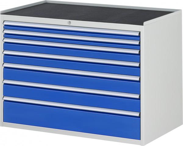 Schubladenschrank mit 7 Schubladen und Metall-Top B 1145 x T 650 x H 825 mm