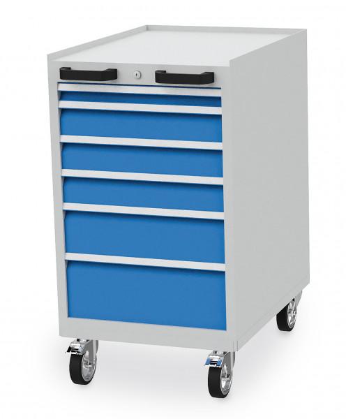 Mobiler Schubladenschrank mit 6 Schubladen inkl. Einteilungs- Set